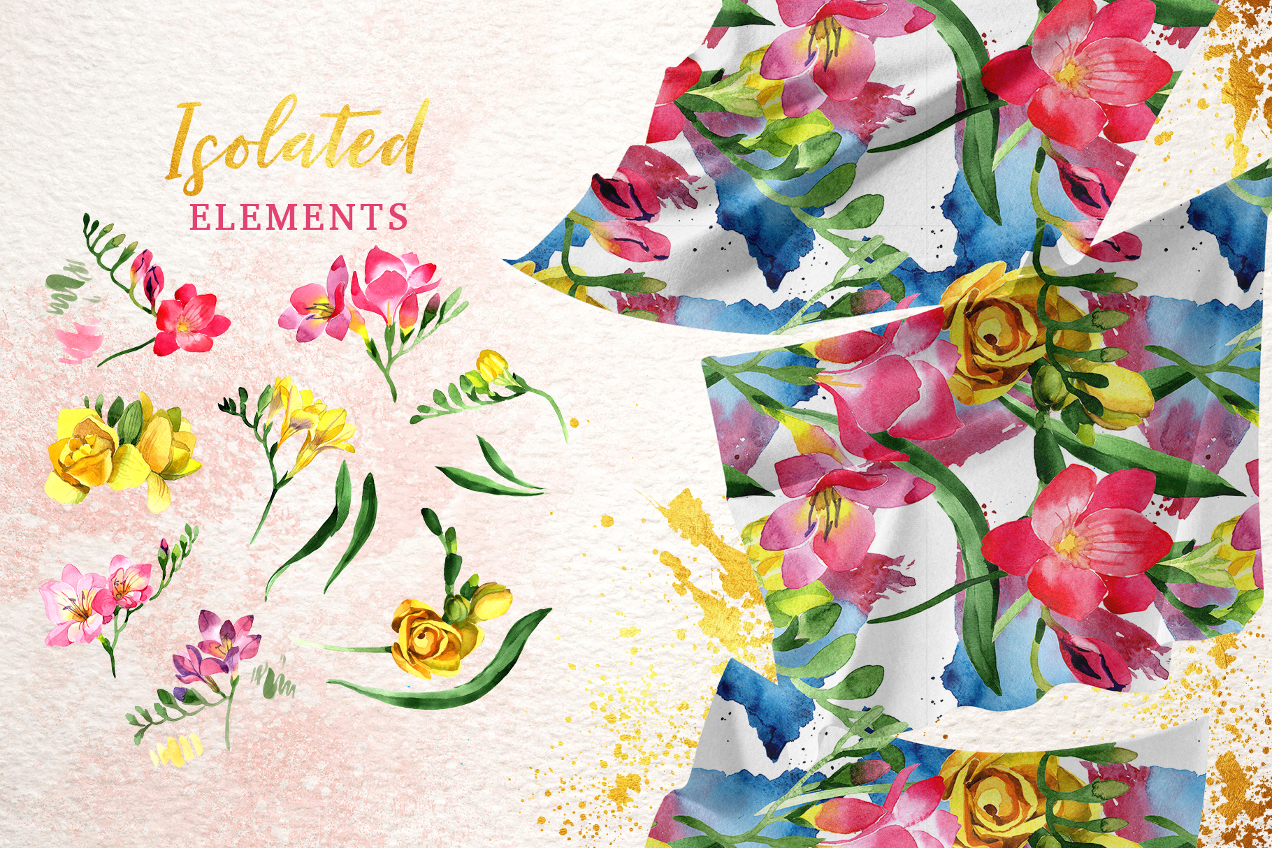 Floral Design collection watercolor png example image 8