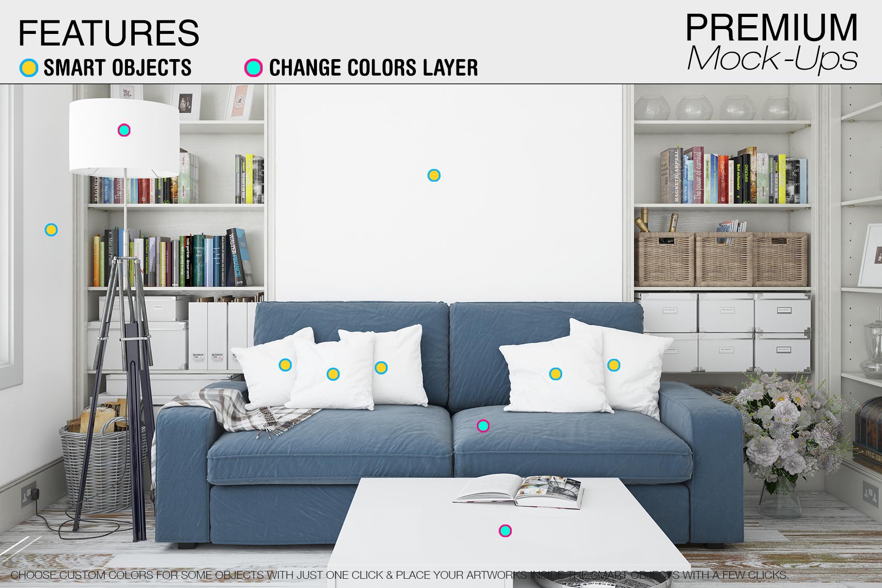Pillows & Frames Mockup Set example image 2