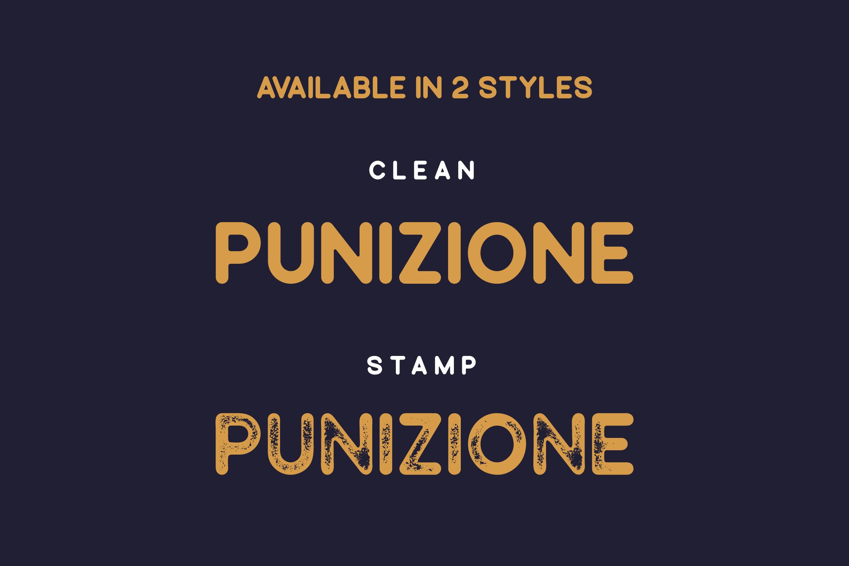Punizione - Sans Vintage Font example image 4