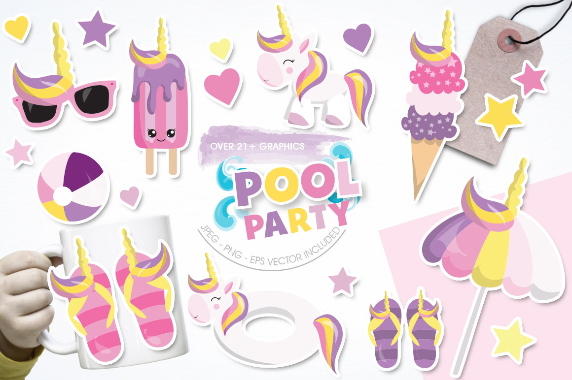 Pool Party graphic and illustrations example image 1