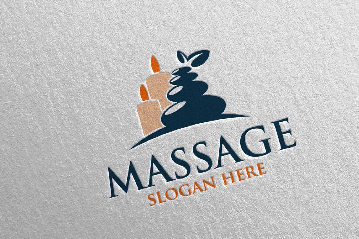 Massage Logo Design 7 example image 4