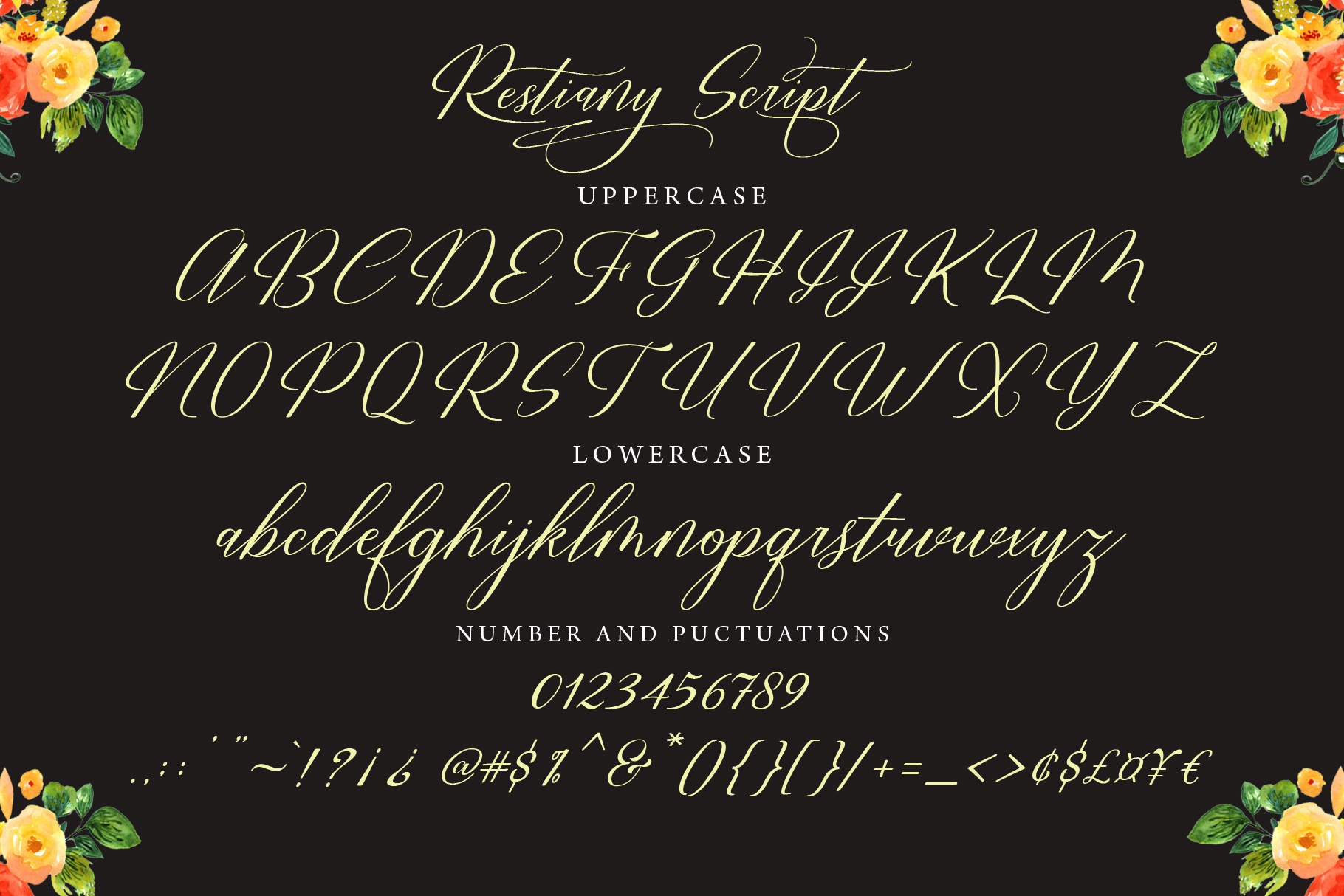 Restiany Script | Sweet Font example image 7