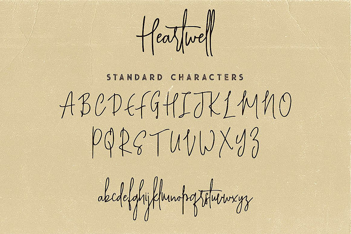 Heartwell Script Font example image 6