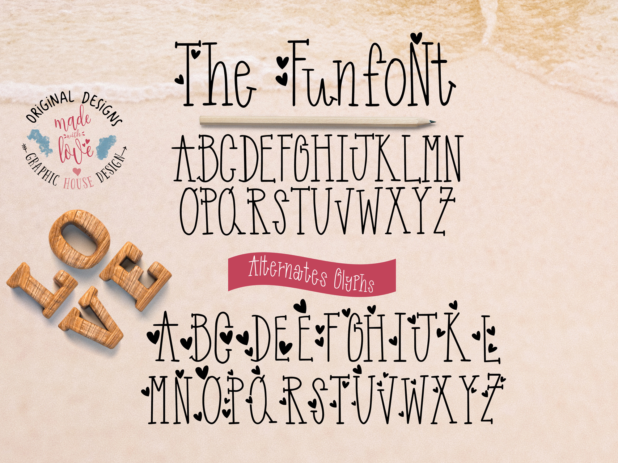 Funfont - Modern Hand Lettered Font with Cute Alternate Capitals example image 2