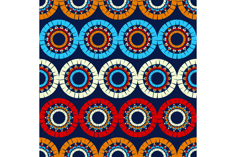 Polka dot ornament. Set of 10 seamless patterns. example image 9