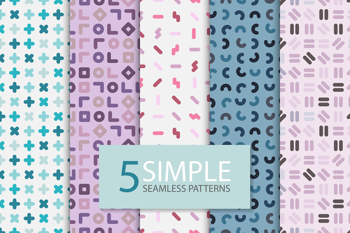 Color seamless patterns. Fashion 80s example image 4