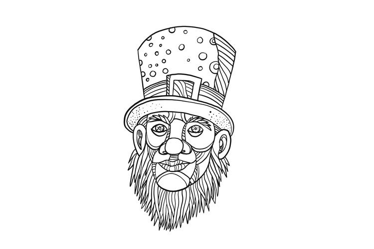 Irish Leprechaun Mono Line example image 1