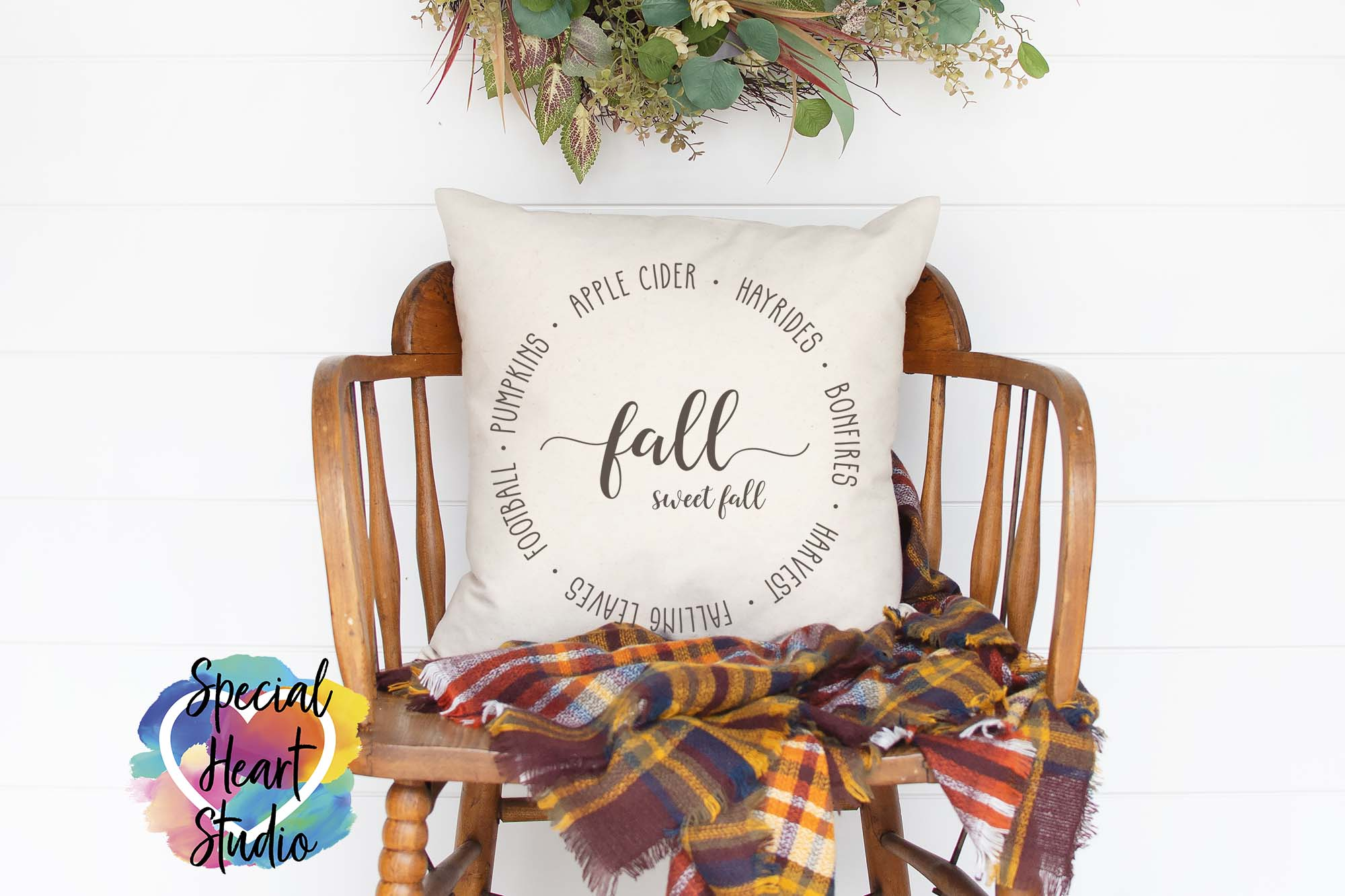 Fall Sweet Fall SVG - Home decor, sign, pillow cut file example image 1