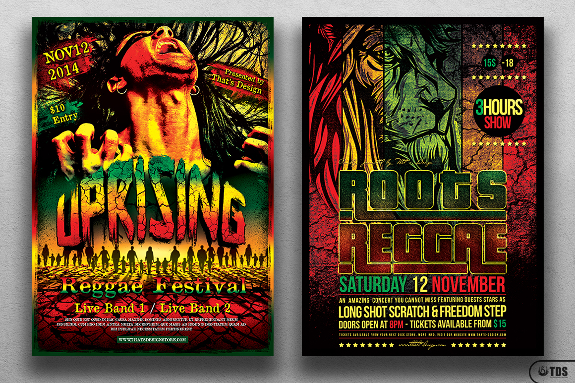 Reggae Flyer Bundle example image 3