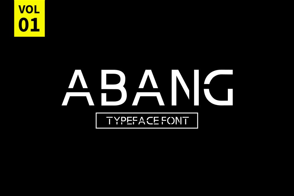 Abang Typeface Font example image 5