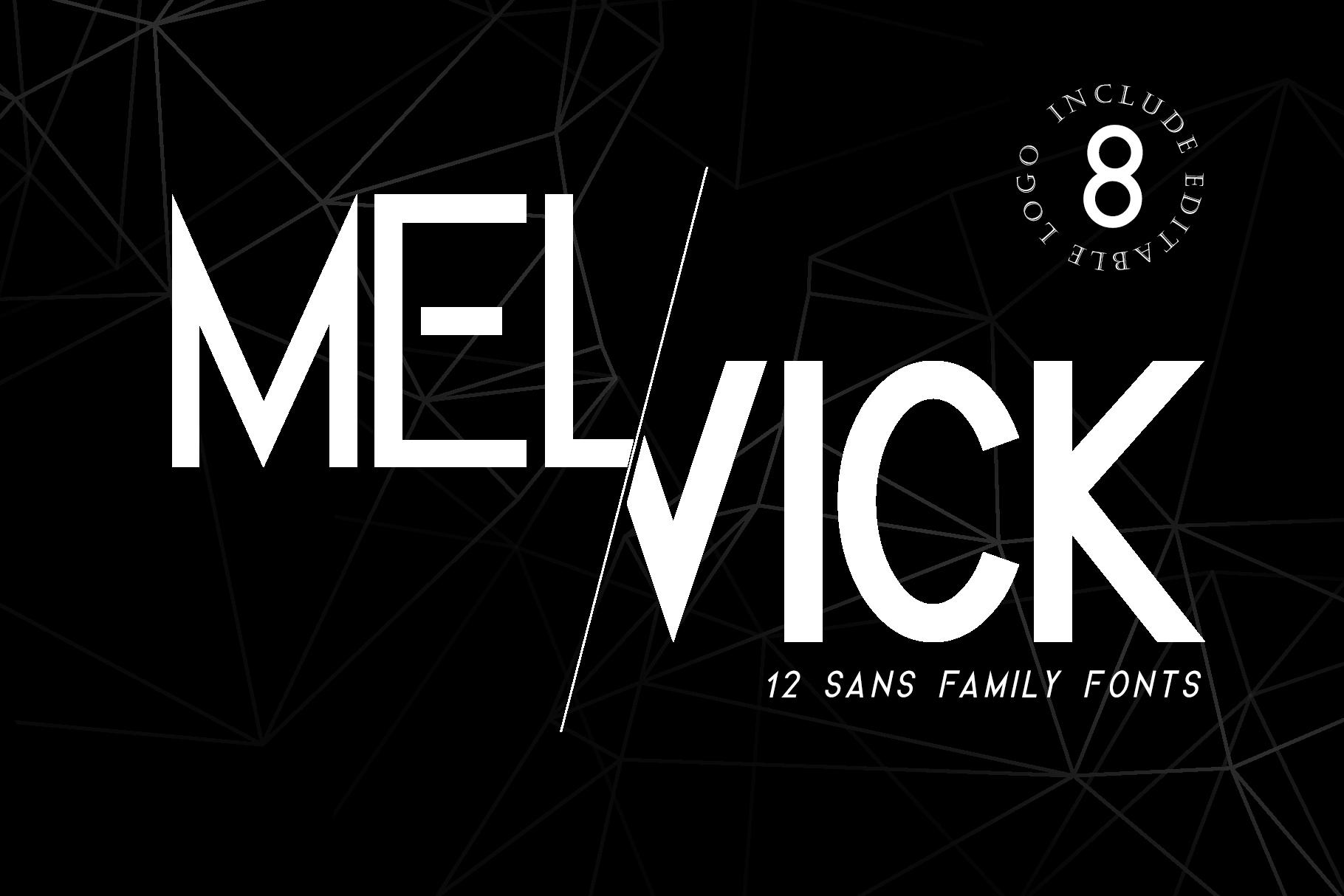 Melvick - 12 Font Family & EXTRA LOGO example image 13