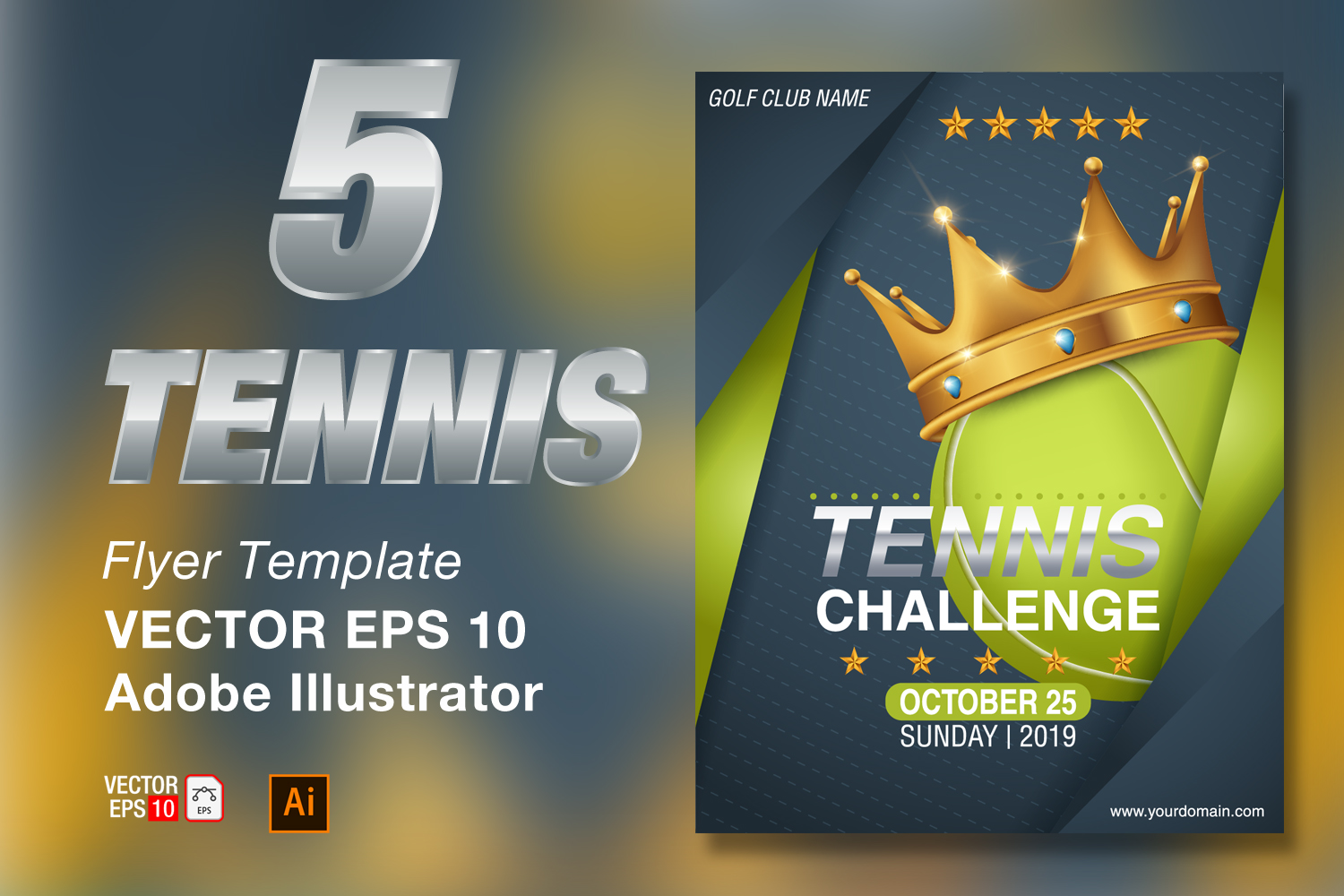 Tennis Tournament Flyer Template example image 1
