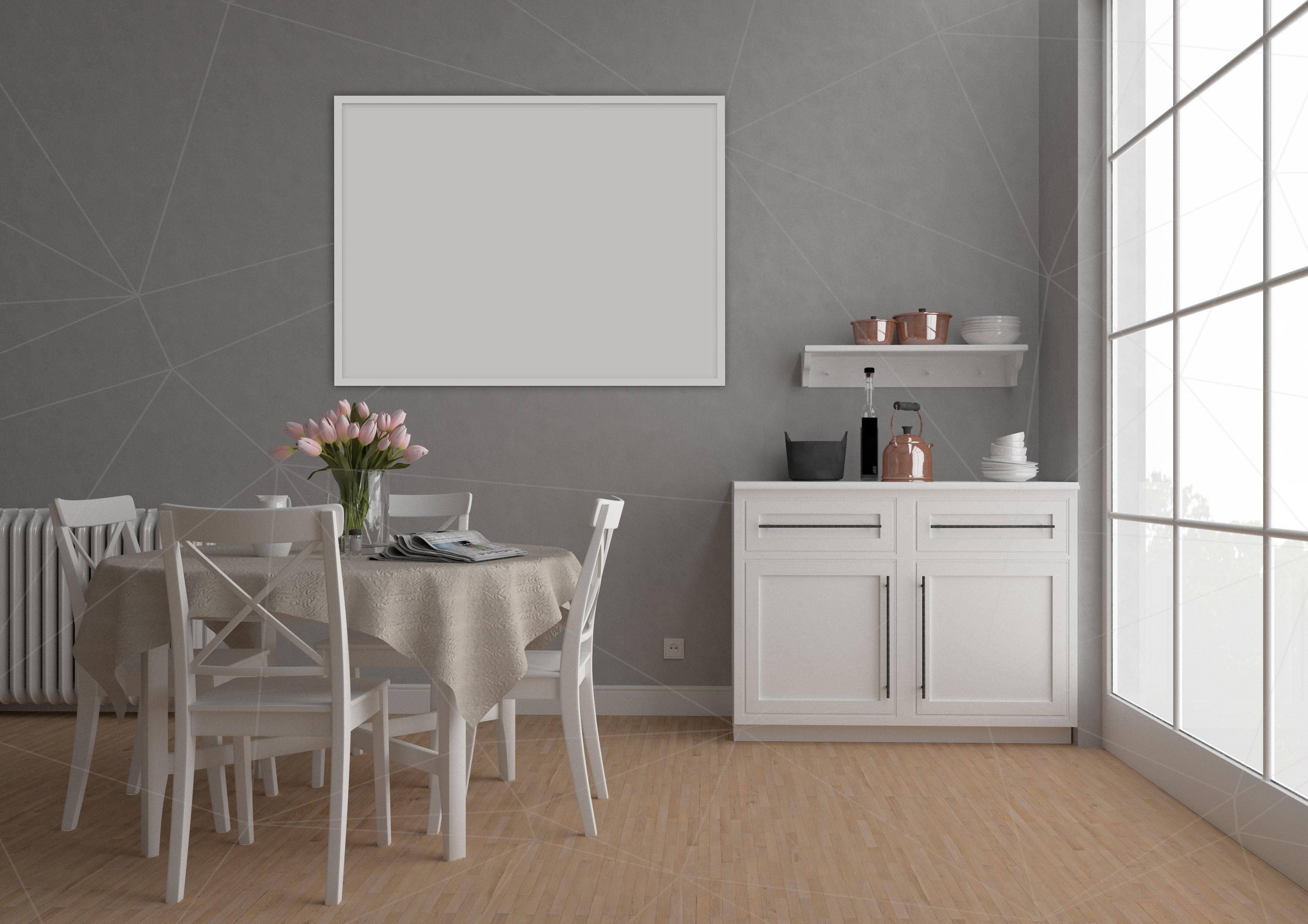 Interior mockup bundle - blank wall mock up example image 5