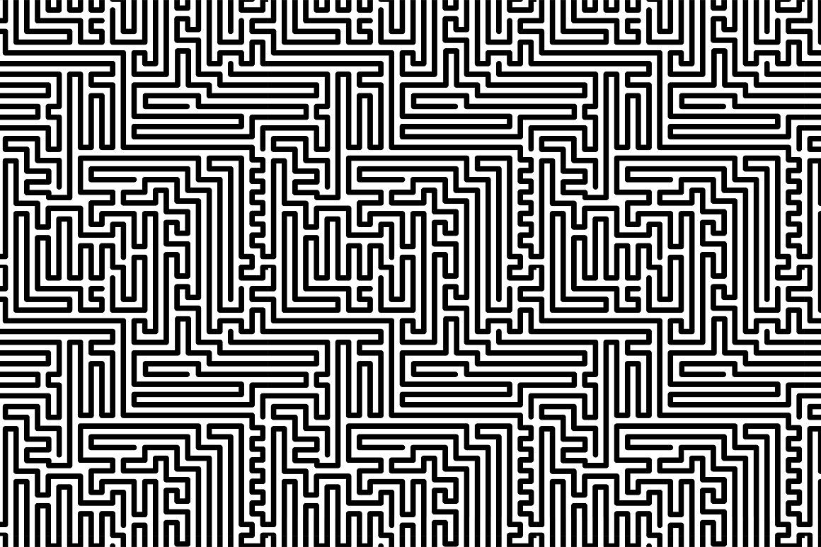 Seamless striped geometric patterns example image 11
