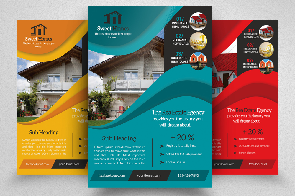 6 Real Estate Agency Flyers Bundle example image 2