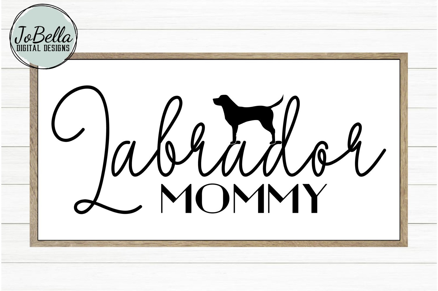 Labrador Mommy SVG and Printable Dog Lover Design example image 2