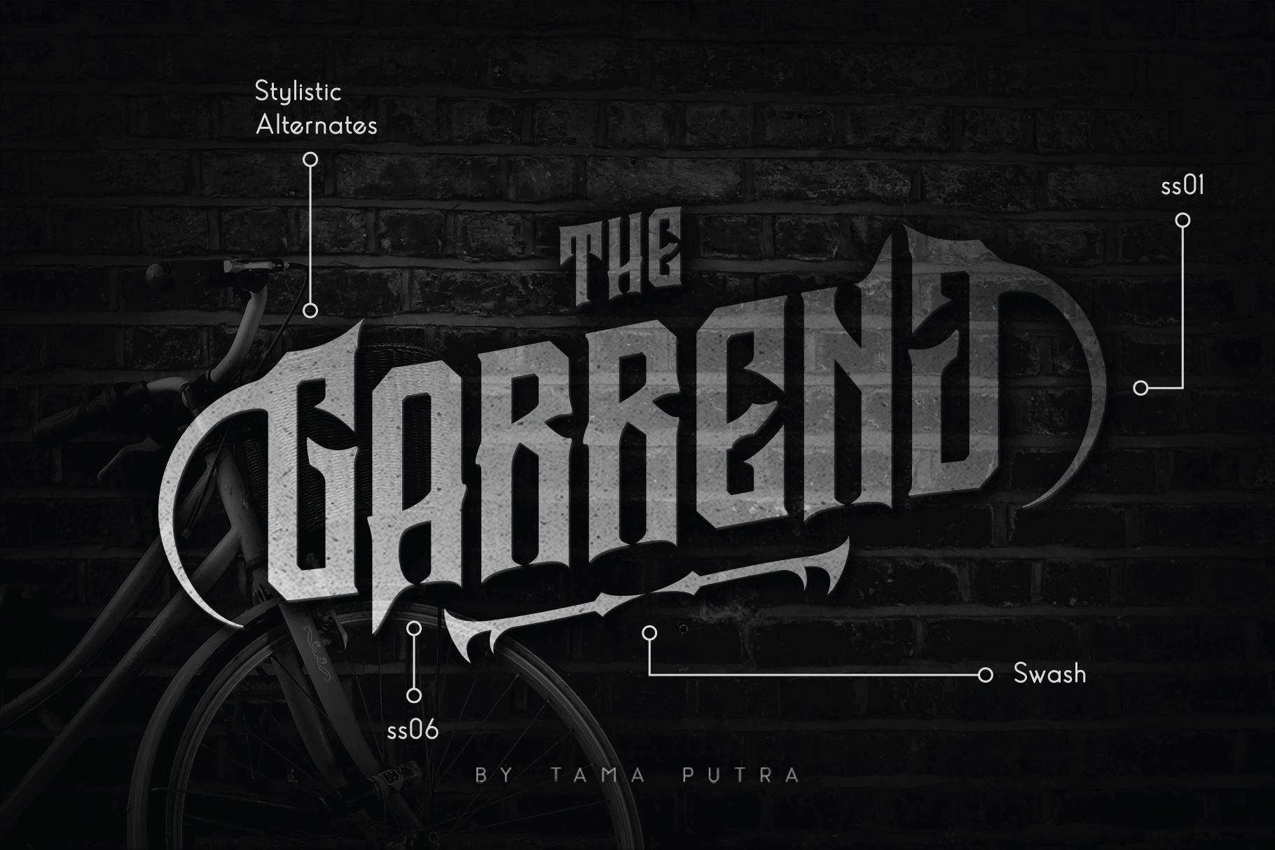 Garreng Decorative Serif Typeface example image 1