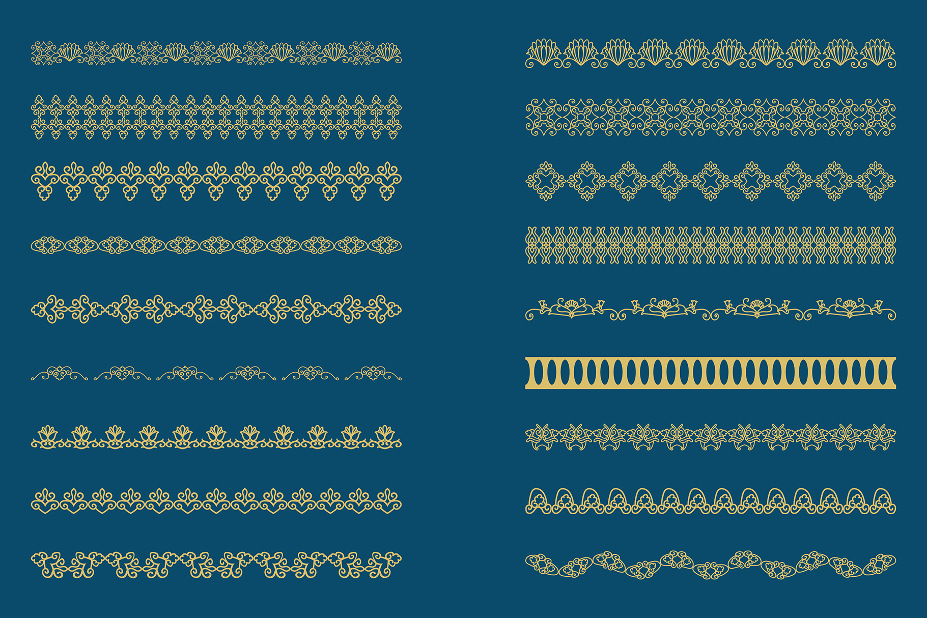 Bronze gold Lace Borders Clipart & Vectors example image 7