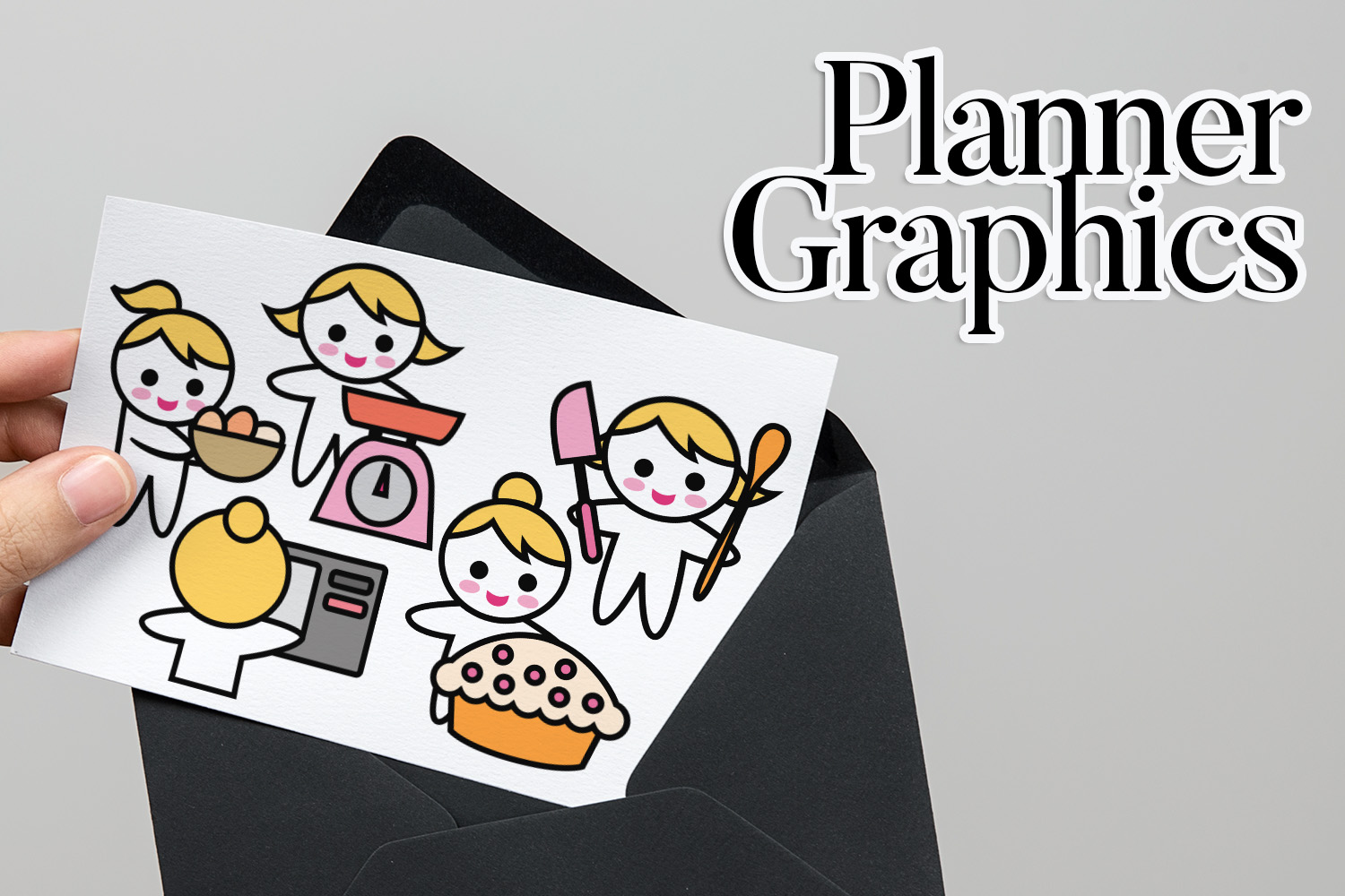 Hobby illustrations bundle - planner sticker graphics example image 18
