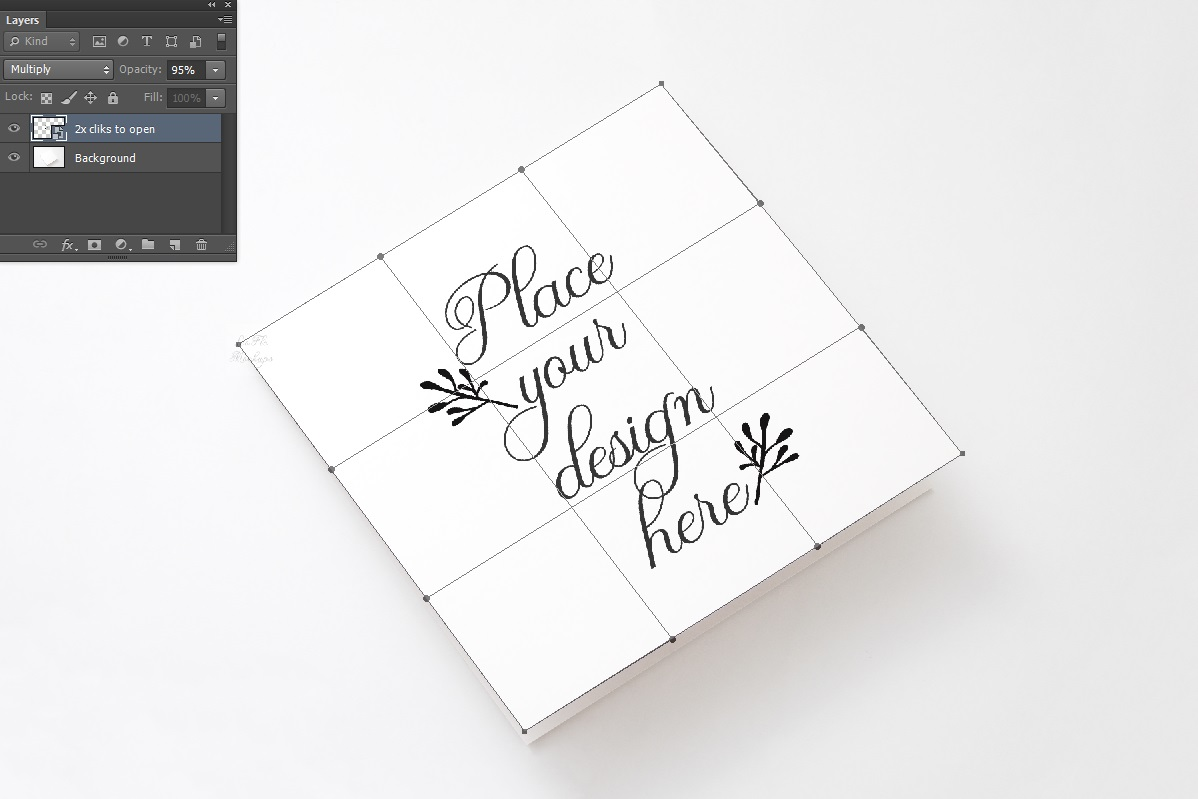 Vertical Square Greeting Card Mockup psd invitation example image 2