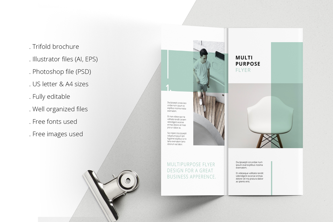 MINT Multipurpose Trifold Brochure example image 3