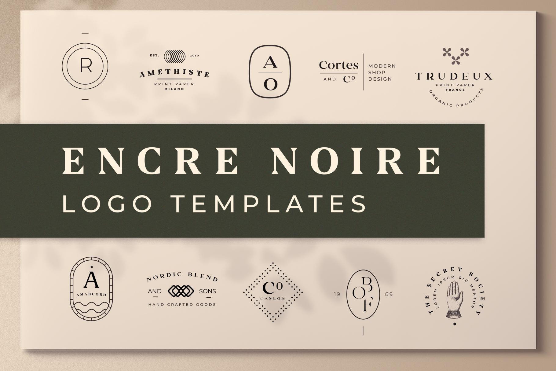 Encre Noire Logo Template example image 1