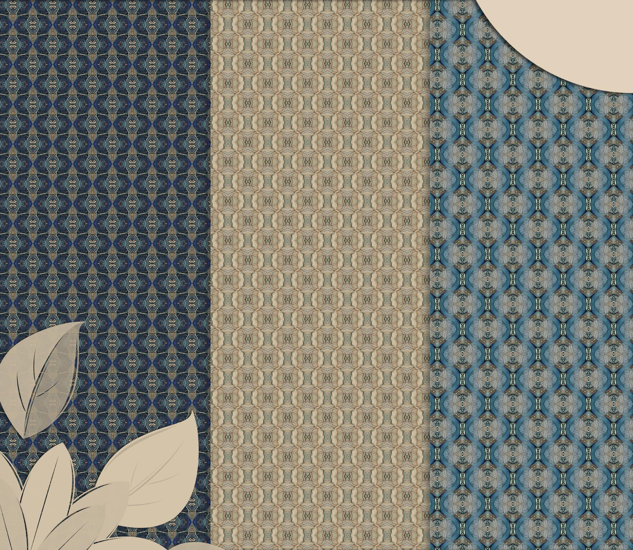 Old vintage blue-beige masculine Scrapbook Paper example image 3