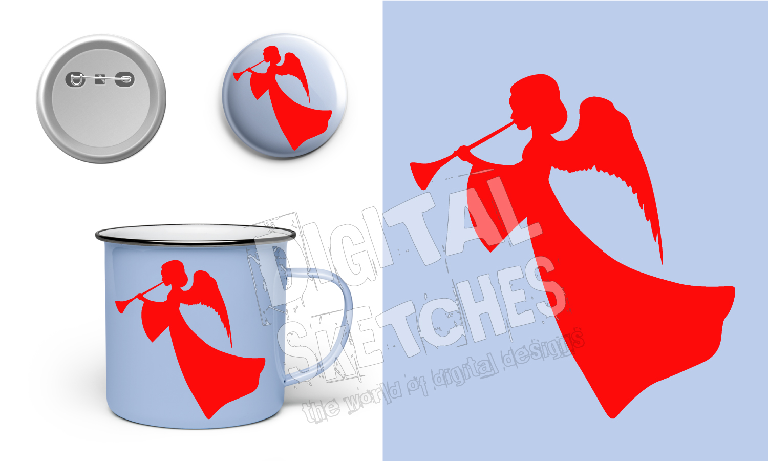 Angel Graphic, Angel Cut File, Holiday SVG example image 3
