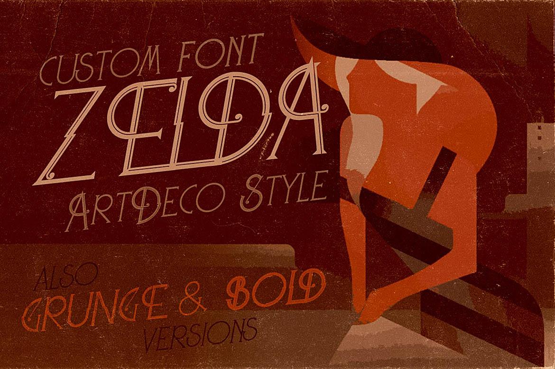 Zelda - ArtDeco Font example image 6
