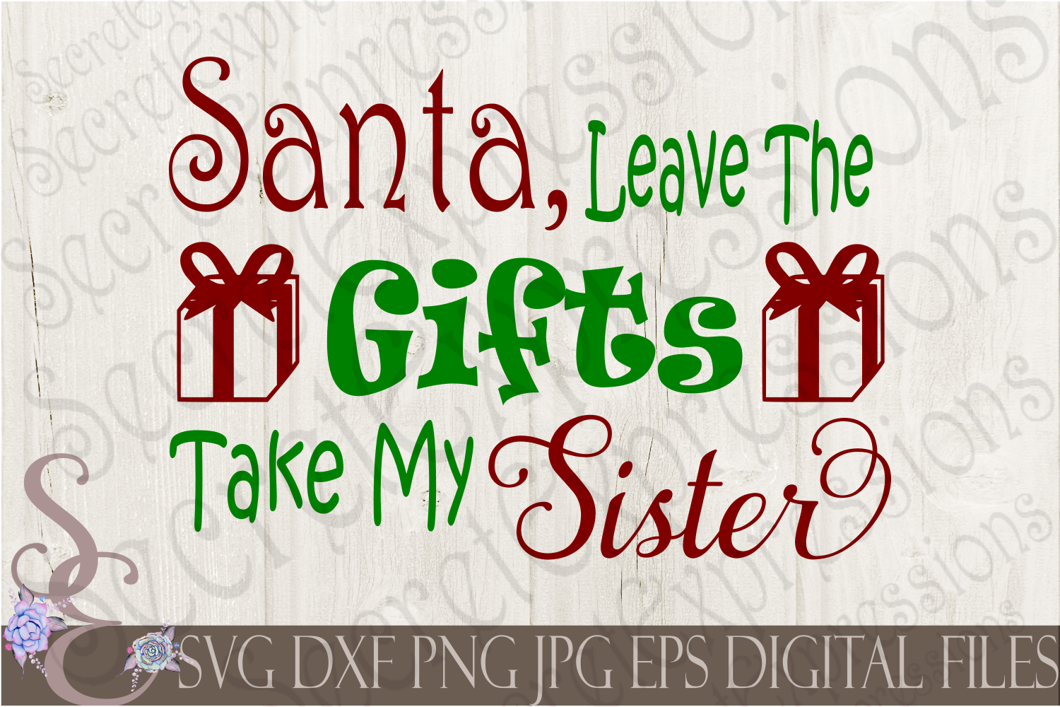 Kid Christmas SVG Bundle 9 Designs example image 10