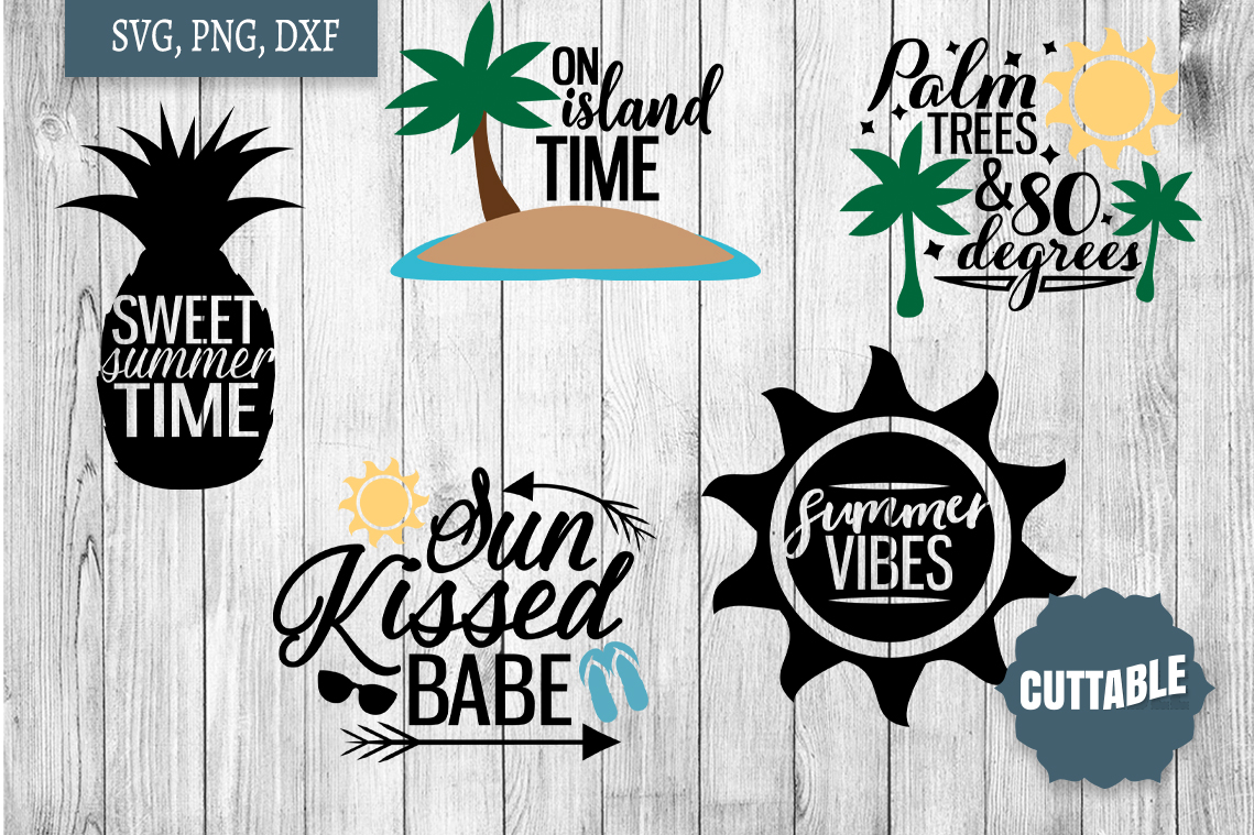 Summer SVG bundle, Summer quote cut files, Summer Cut files example image 2