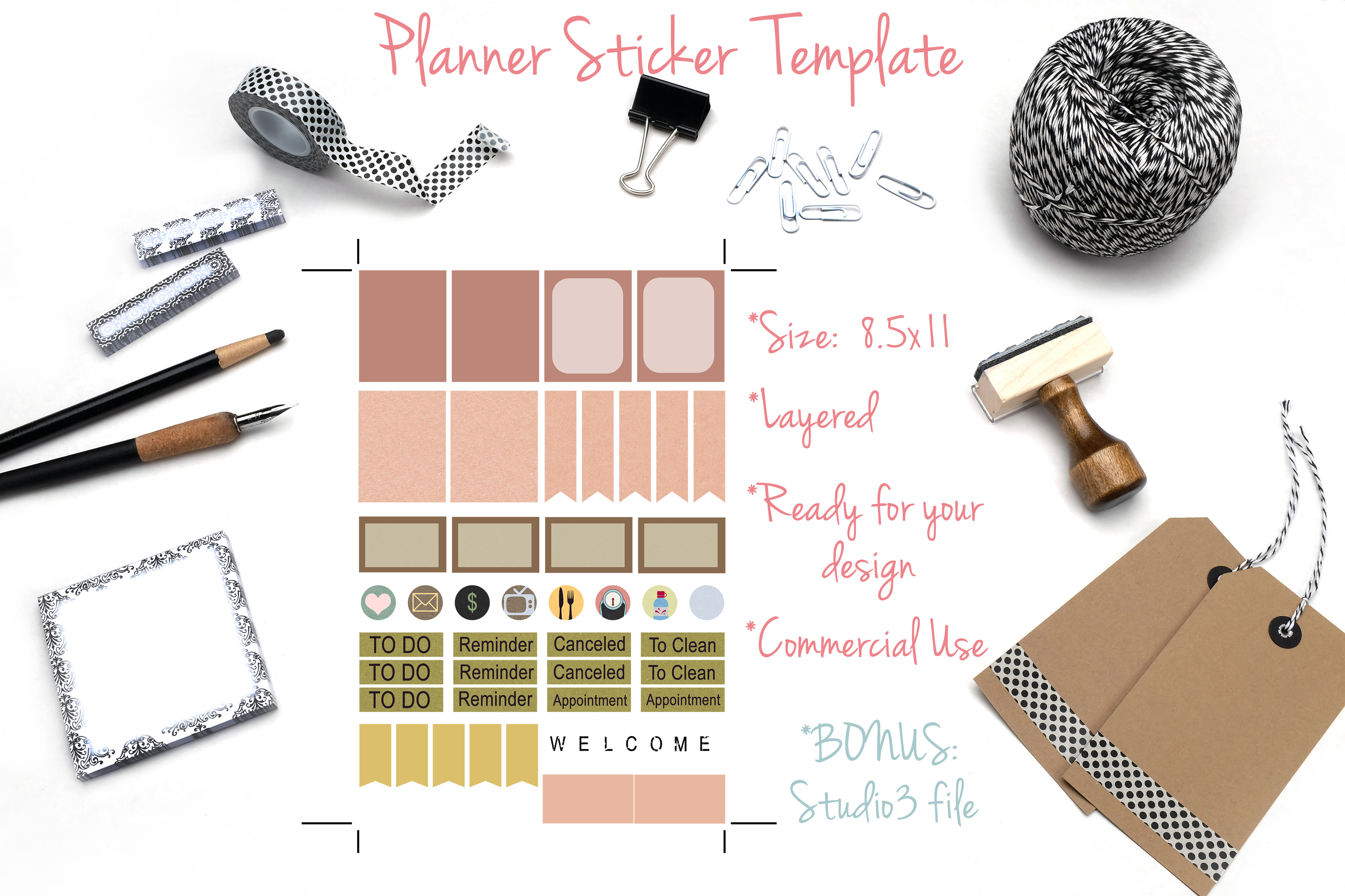Planner Stickers Template 1 example image 1