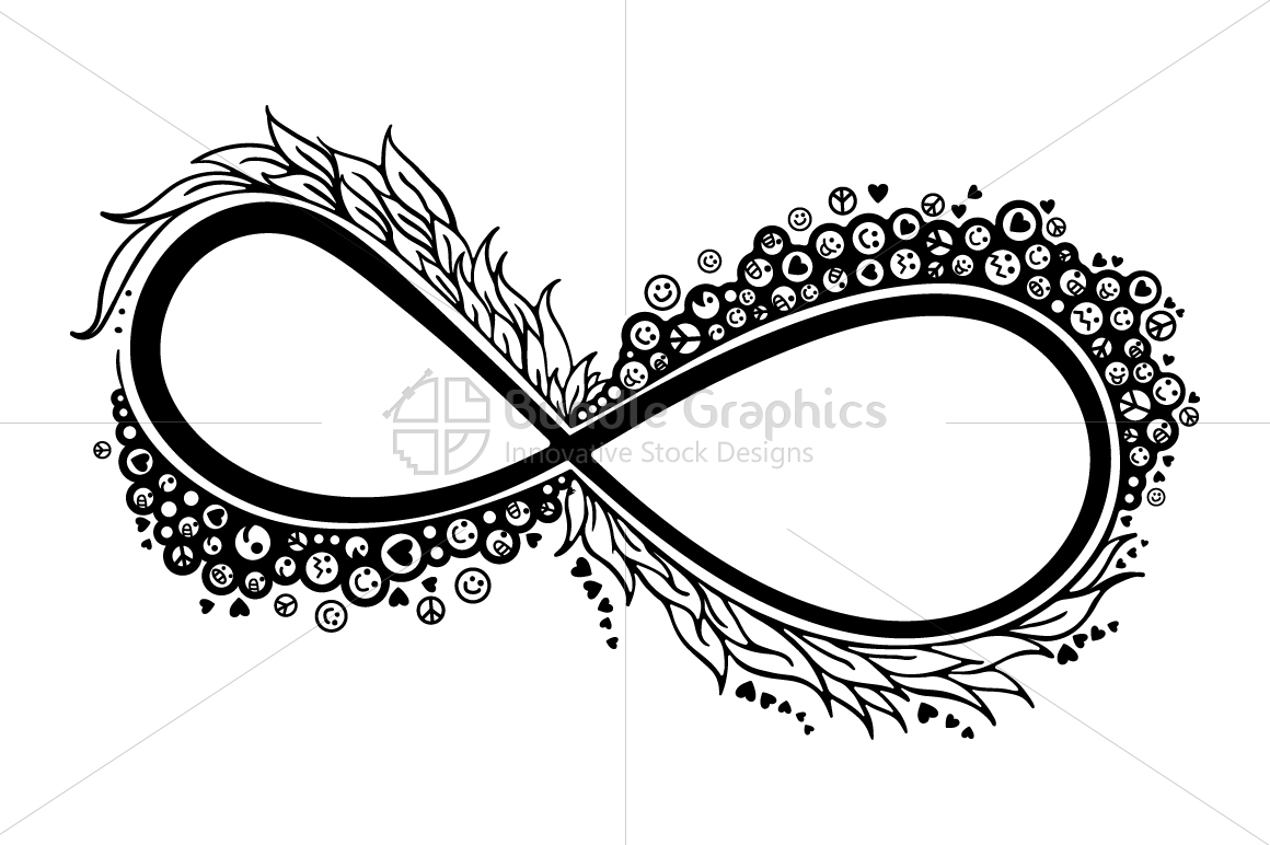 Infinity of Love & Happiness - Colorful Graphical Illustration example image 2