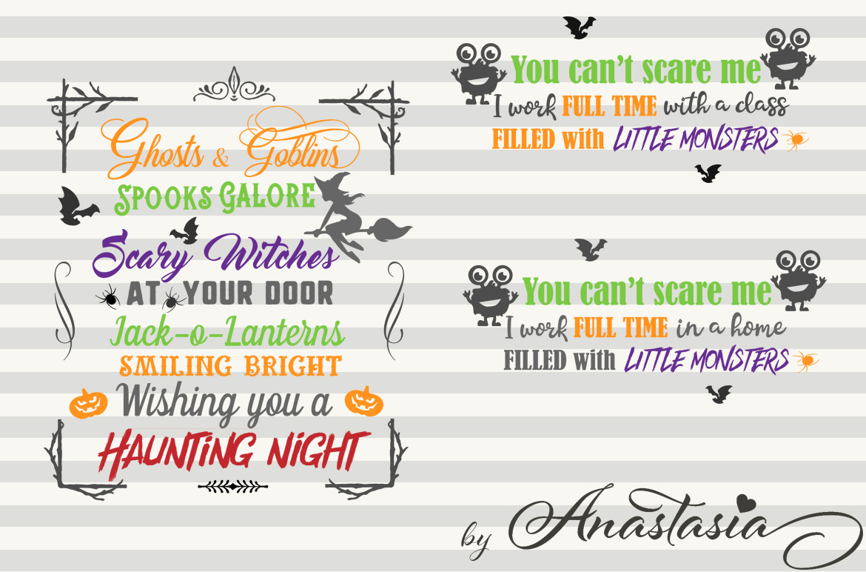 SVG Halloween Bundle -16 Cutting files and 15 Bonus Halloween Elements - Cut Ready SVG for Halloween example image 4