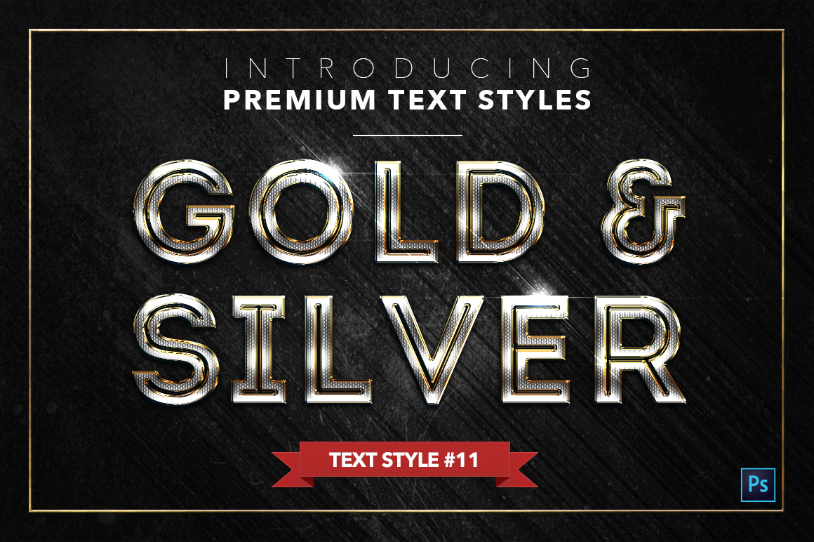 Gold & Silver #2 - 20 Text Styles example image 2