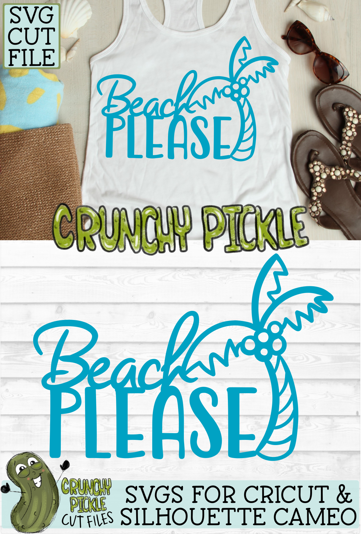 Beach Please Palm Tree SVG Cut File example image 5