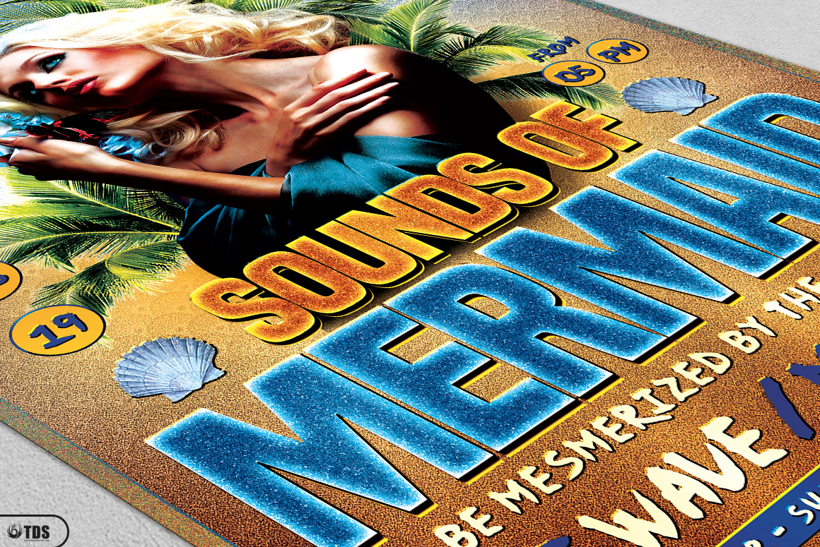 Beach Party Flyer Template V6 example image 5