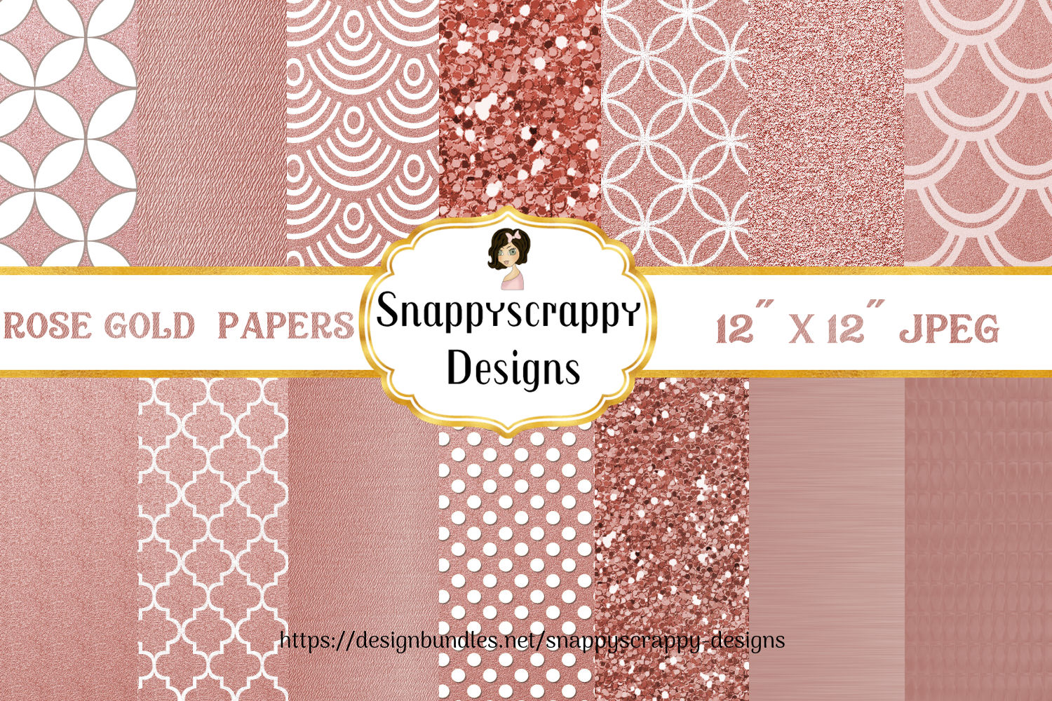 Rose Gold Background Papers example image 1