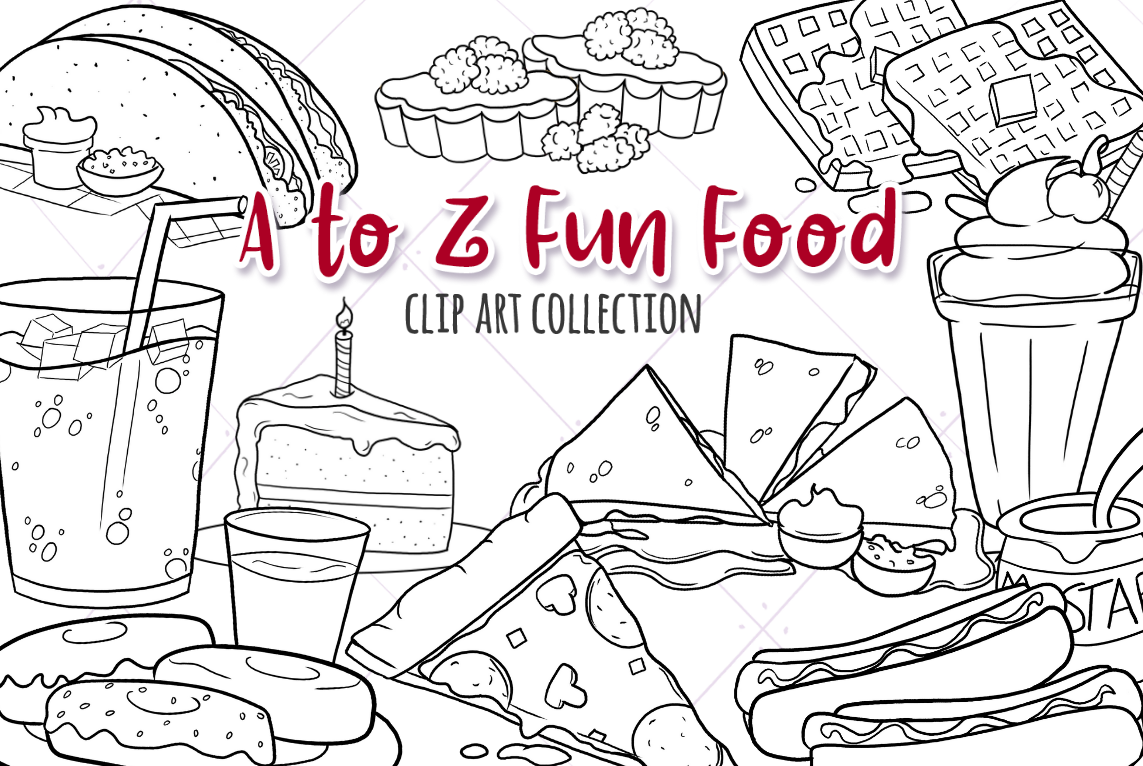 A to Z Fun Foods Digital Stamps example image 1