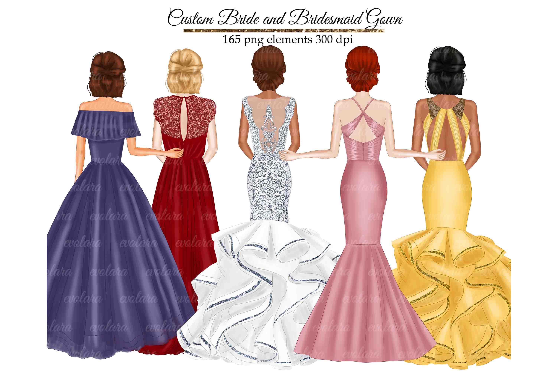 Bride Clipart Bridesmaid Clipart Best Friends Wedding example image 1