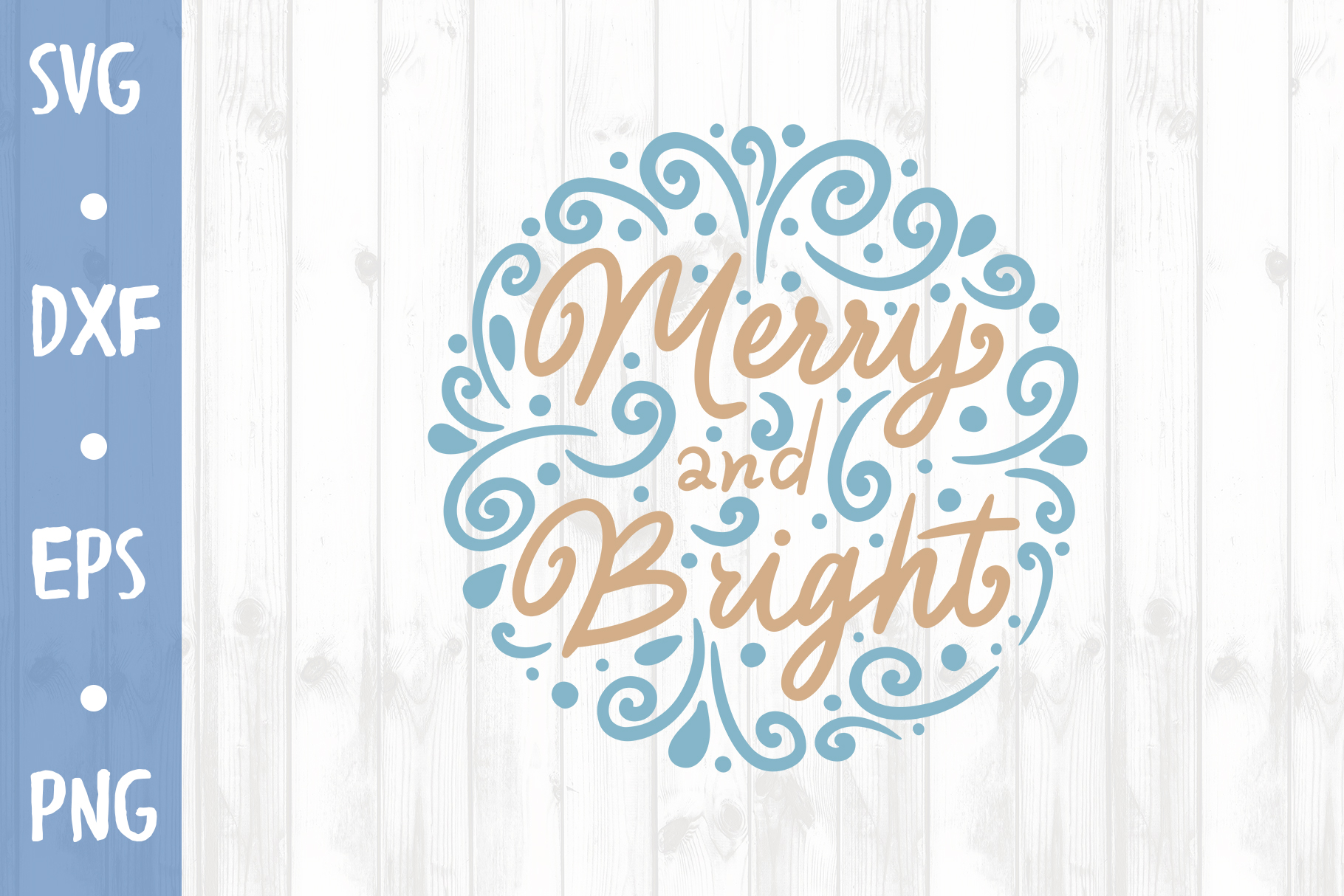 Merry and bright SVG CUT FILE example image 1