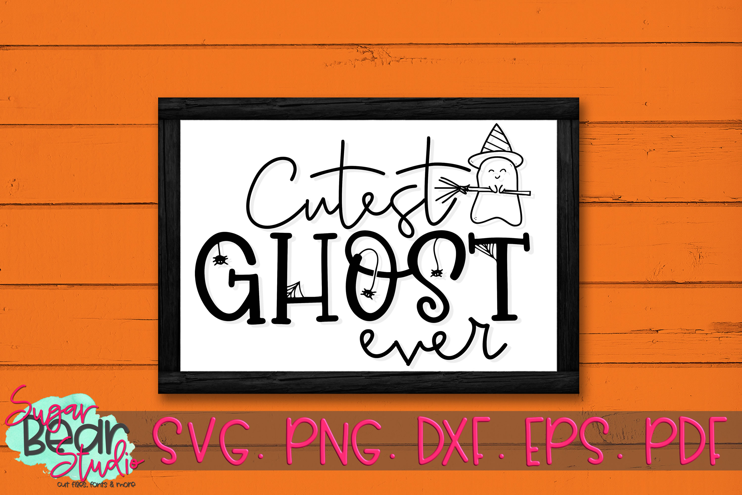 Cutest Ghost Ever - A Halloween SVG example image 2