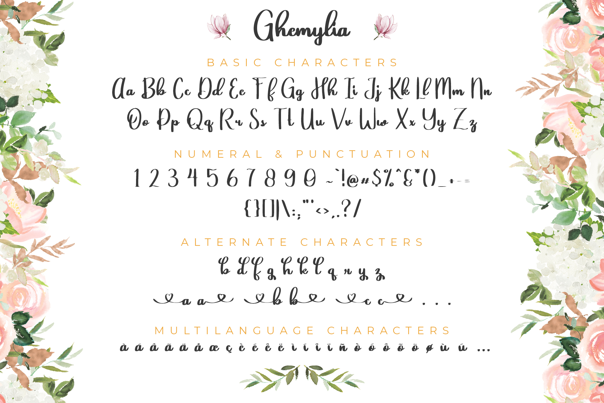 Ghemylia - Lovely Heart Font example image 8