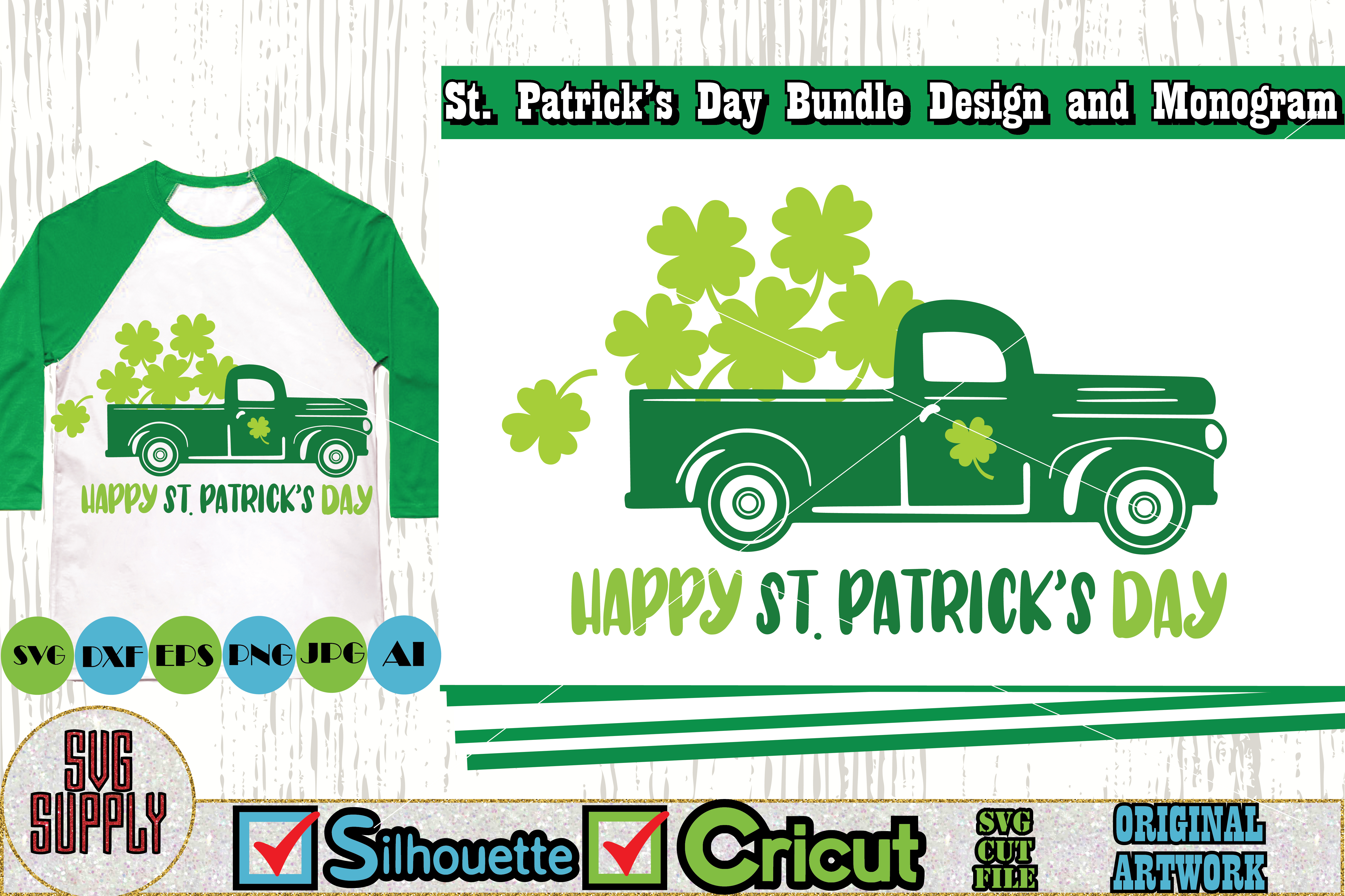 St. Patrick's Day SVG Cut File Set example image 5