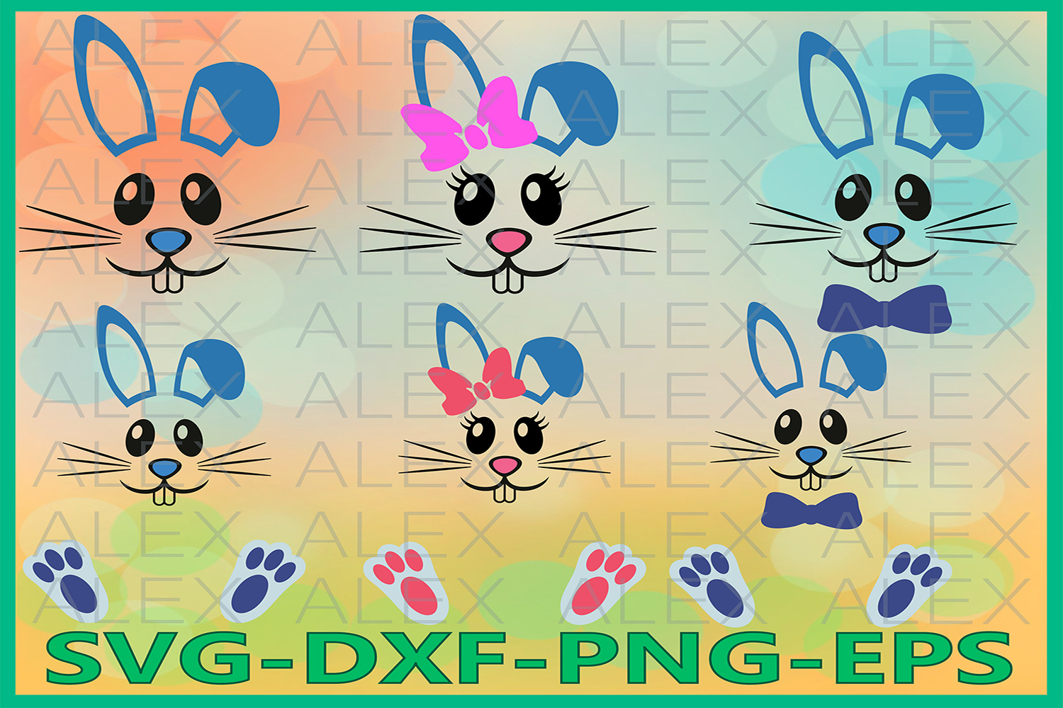 Bunny Svg, Bunny Face Svg, Easter SVG, Easter Bunny svg example image 1