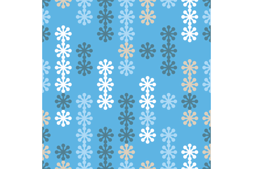 Set of 12 seamless backgrounds with decorative snowflakes.  example image 4