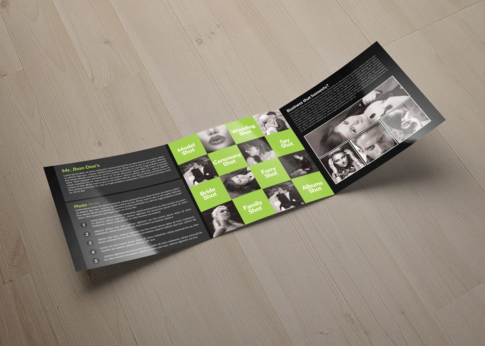 Photography Square Trifold Brochure example image 2