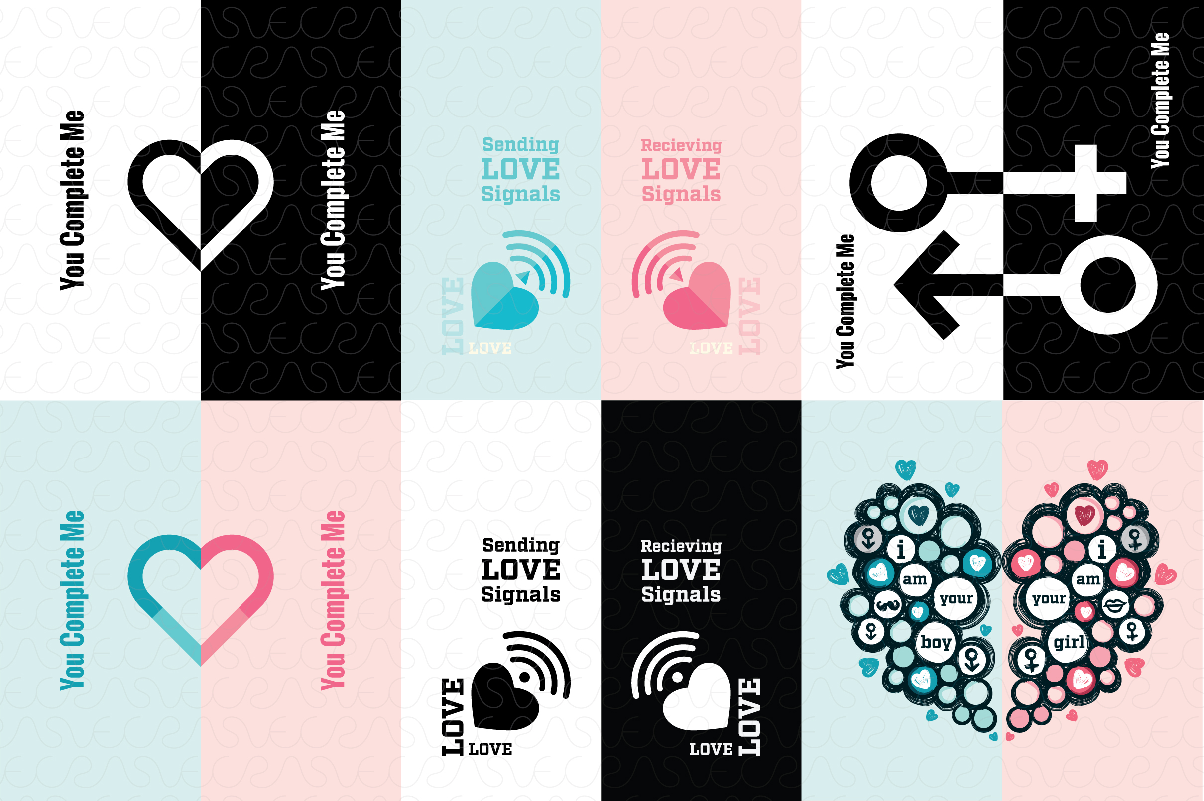 Partners / Couples Theme Graphics Pack example image 3