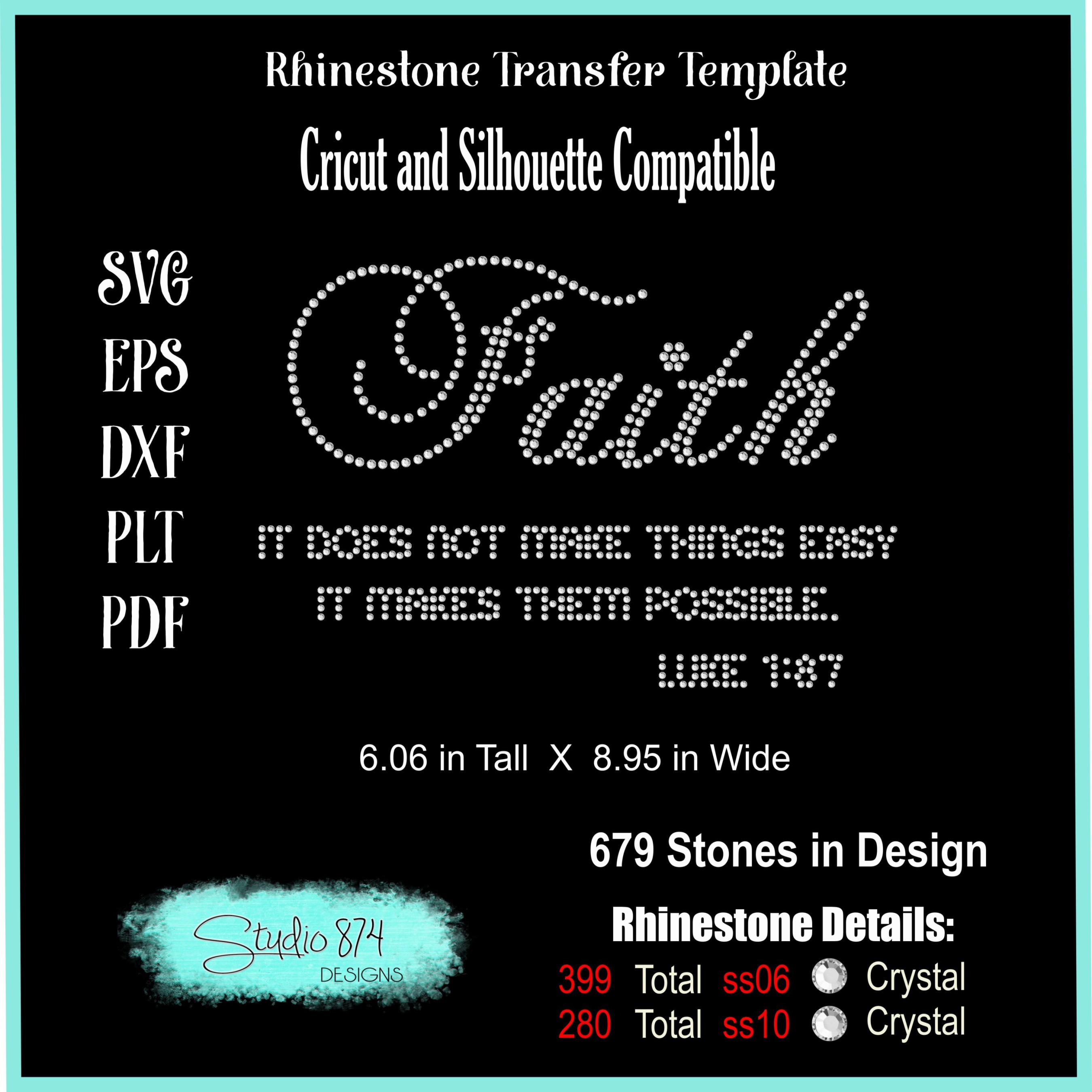 Faith Religious Rhinestone SVG Template example image 2