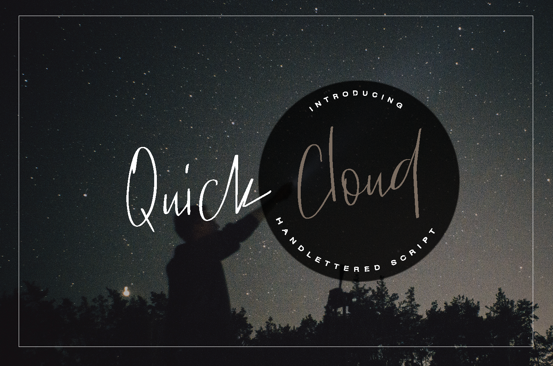 Quick Cloud - script font example image 6